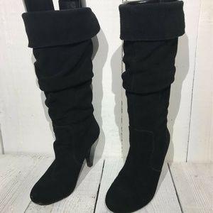 Steve Madden Womens Knee High Boots Black 6.5